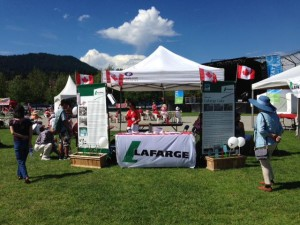 lafarge information booth