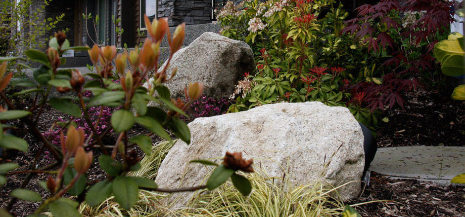 Landscape rock lafarge home delivery for Landscaping rocks vancouver